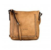 Дамска чанта Sisley светло кафява за рамо