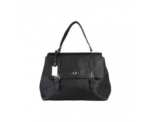 Дамска чанта Sisley с една дръжка черна