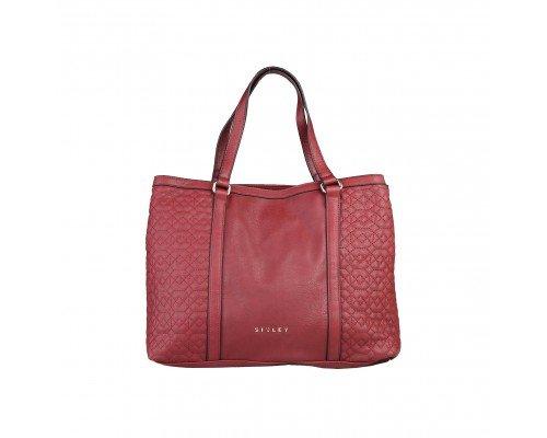 Дамска чанта Sisley бордо модел Virna