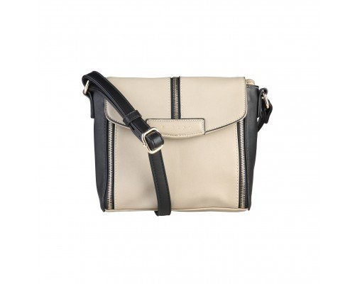 Дамска чанта Sisley черно и кафяво