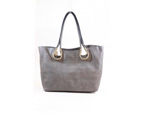 Дамска чанта Tom & Eva две в едно сива