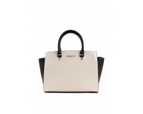 Дамска чанта Tom & Eva черно и бяло