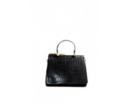 Дамска чанта Tom & Eva черна с една дръжка