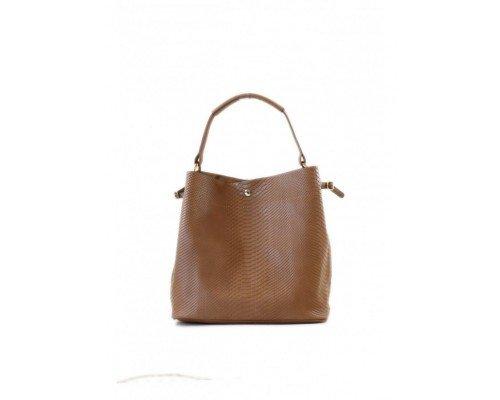 Дамска чанта Tom & Eva с една дръжка  кафява