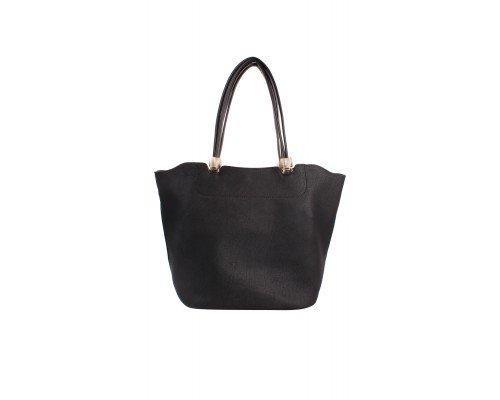 Дамска чанта Tom & Eva черна две в едно