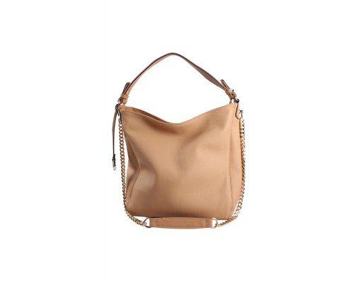 Дамска чанта Tom & Eva бежова с две дръжки