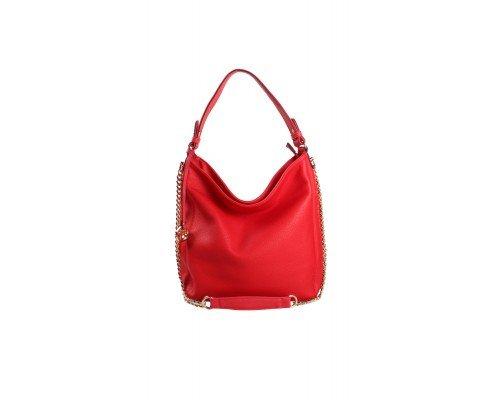 Дамска чанта Tom & Eva червена с две дръжки