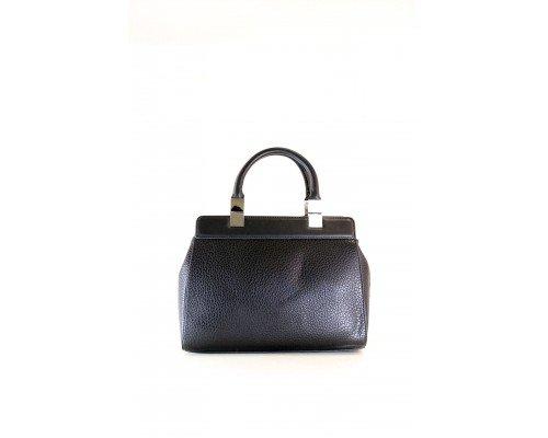 Дамска чанта Tom & Eva с две дръжки черна