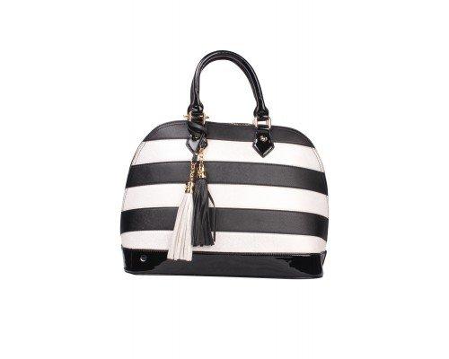 Дамска чанта Tom & Eva черно и сребристо