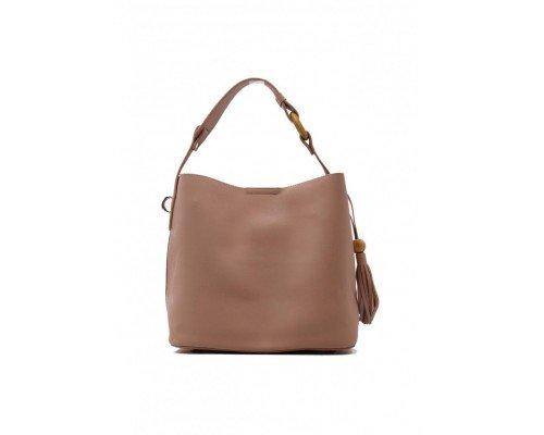Дамска чанта Tom & Eva две в едно розова