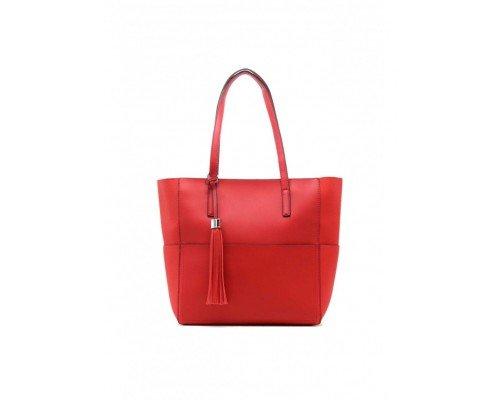 Дамска чанта Tom & Eva две в едно червена