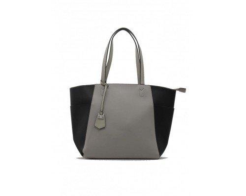 Дамска чанта Tom & Eva черно и сиво