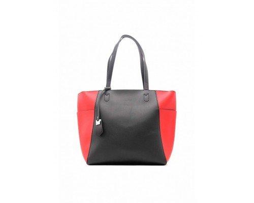 Дамска чанта Tom & Eva черно и червено