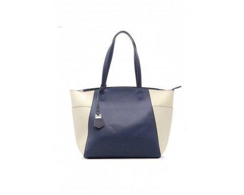 Дамска чанта Tom & Eva синьо и бяло