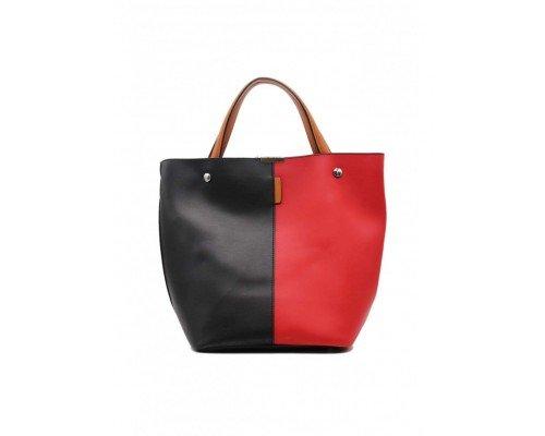 Дамска чанта Tom & Eva две в едно черно и червено