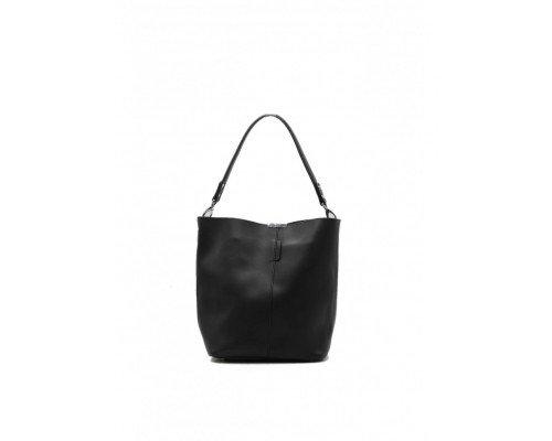 Дамска чанта Tom & Eva черна с една дръжка модел Black