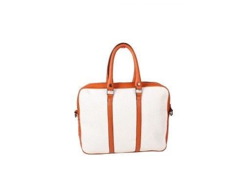 Дамска чанта Winston бяло и кафяво